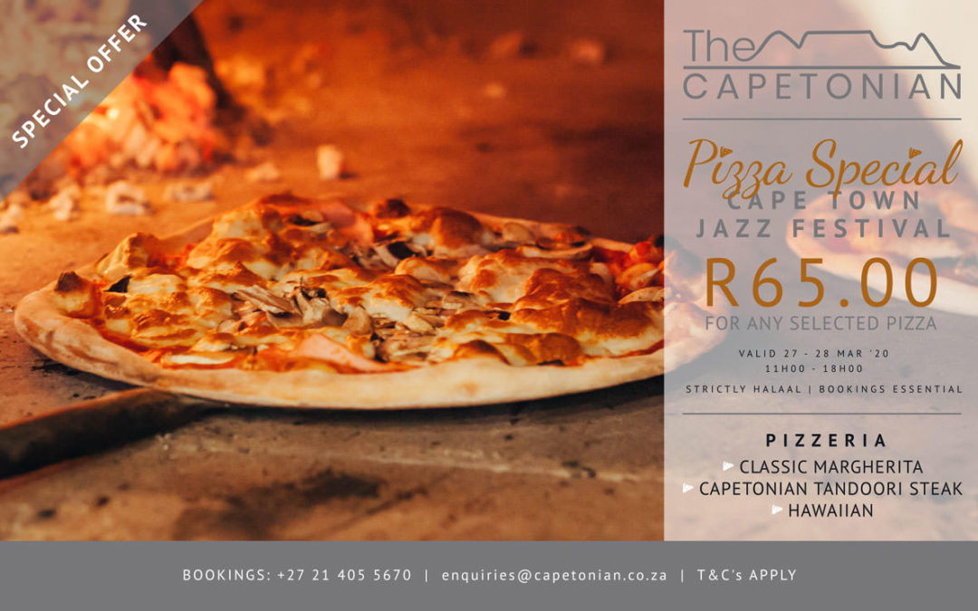 Cape Town Jazz Festival Pizza Special | The Capetonian